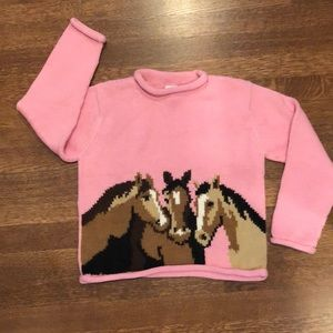 Beautiful Pullover Sweater with Horses Design